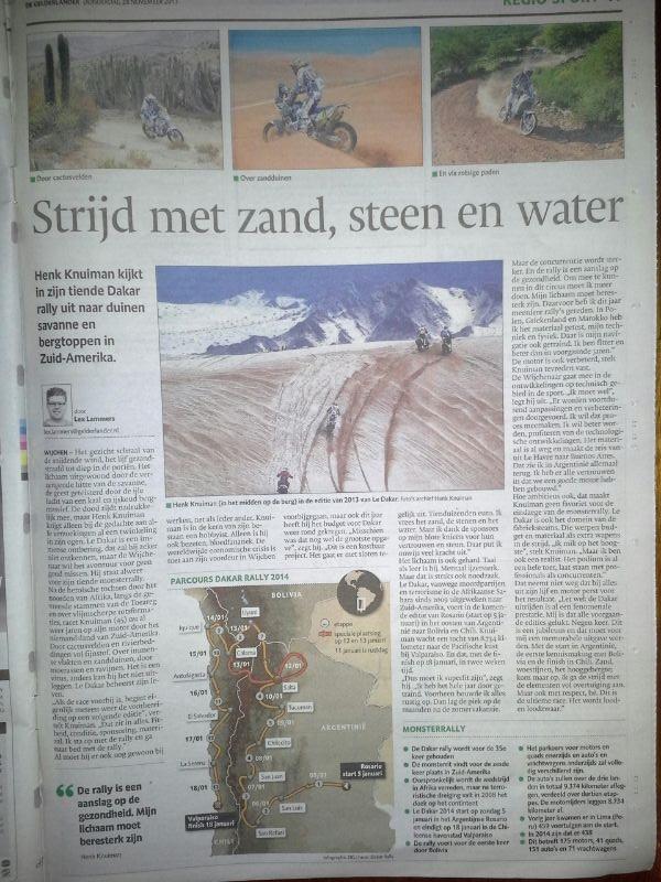 De Gelderlander Strijd met zand, steen en water